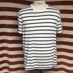 EUC POLO Naval striped tee sz XL